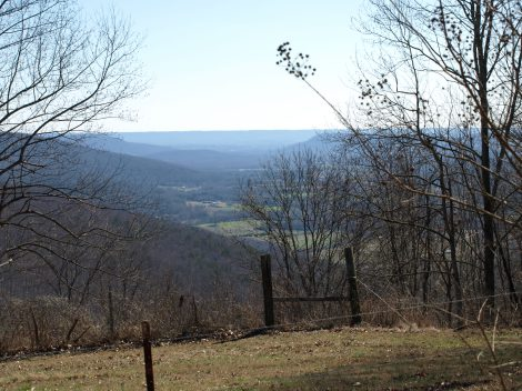 We might sit on the porch swing and look into the valley while we visited.