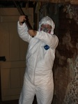 Tyvek is such an attractive look.  Don't you think?  (BTW, That is ME under all that gear!  '-)